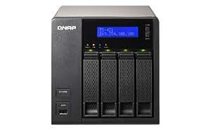 QNAP TS-421 Serveur de stockage NAS Turbo avec 4 baies pour HDD 2,5''/3,5'' iSCSI/RAID Marvell 2 GHz RAM 1 Go 4 To
