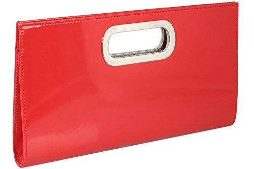 Emmy-Shop, Poschette giorno donna, Nero (nero), One Size Rosso (rosso)