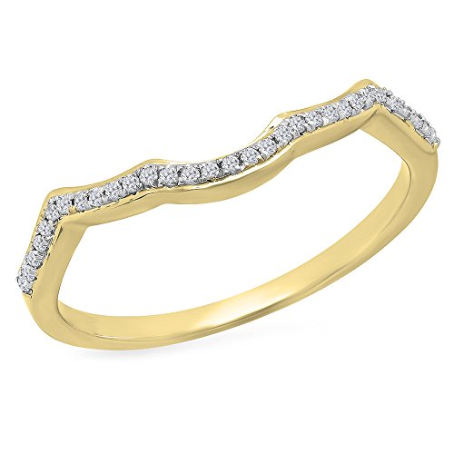 DazzlingRock Collection  -  10 K Gelbgold Rund I-J Diamant
