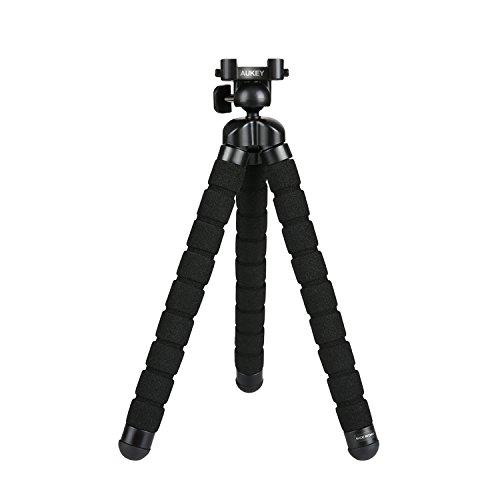 """AUKEY Treppiedi Mini Flessibile Portatile 360° Gradi con Vite da 1/4"""" Gorillapod Treppiede Smartphone per iPhone 7 , 6s , 6s Plus , Samsung S8 , Treppiedi Fotocamera per GoPro , DSLR"""