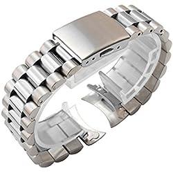 Bracelet-montre de rechange President Oyster- 22mm - Acier inoxydable - Scuba - SKX007 009
