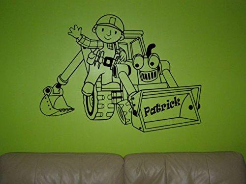 Bob der Baumeister Wandaufkleber Bob der Baumeister Wandaufkleber für Kinderzimmer Schwarz