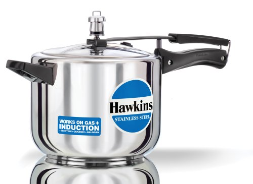 Hawkins Stainless Steel Pressure Cooker, 5 Litres  available at amazon for Rs.2999