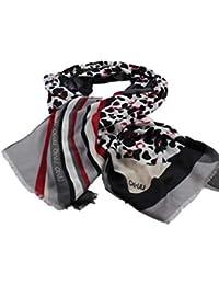 XL CHIFFON SCIARPA STELLE STARS Panno 110 x 180 Sarong parero stola scarf foulard