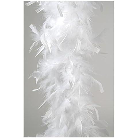 Bufanda de plumas aprox 185 cm blanco