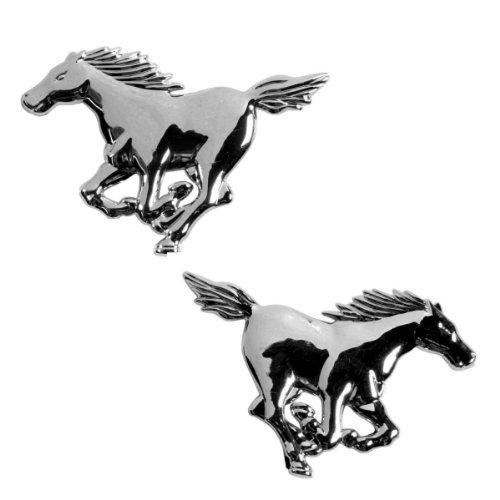 Akhan-3D15027-Chrom-3D-Schriftzug-Emblem-Logo-Horse-Pferd-2-Stck