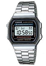 Casio Mixte Adulte Digital Quartz Montre avec Bracelet en Acier Inoxydable A168WA-1YES