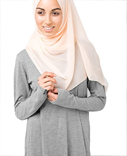 InEssence© New Spanish Villa Off-White PolyChiffon Scarf Ladies Wrap Hijab Regular Size