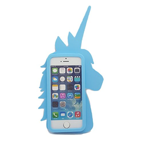 ehenz® TM Unicorn 3d case cover for iPad 2,3,4 iPhone 7,7 +, 6,6 +, 5... arcobaleno Cute iPhone 7+ blu