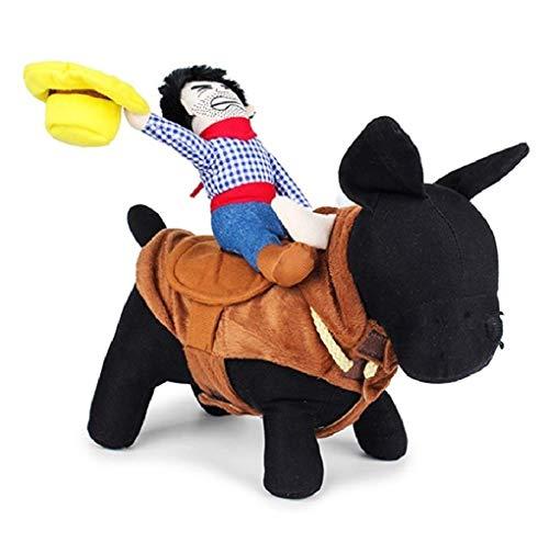 HAMISS Hunde-Kostüm, für Halloween, Cosplay, Western, Cowboy, Reitkostüme, Jacke, Umhang für Hunde, S