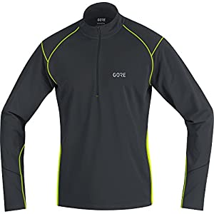 GORE Wear Atmungsaktives Herren Langarm-Shirt, R3 Thermo Long Sleeve Zip Shirt, Rot/Schwarz, 100349