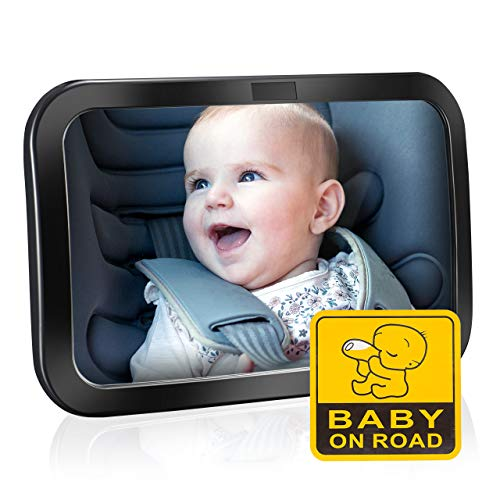 Espejo Retrovisor Bebé para Vigilar al Bebé en Coche, OMorc 360° Ajustable Irrompible...