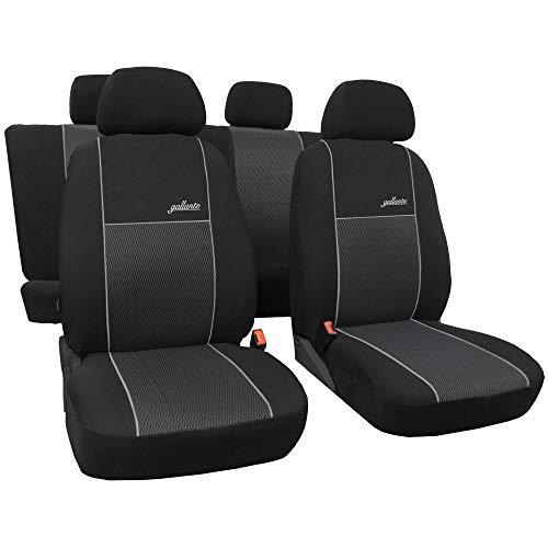 GSC Sitzbezüge Komplettset 5-Sitze nach Mass, Autositzbezug, VIP, kompatibel mit Volkswagen Golf Schalensitze IV 97-06 5-Sitze