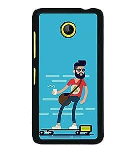Cool Dude 2D Hard Polycarbonate Designer Back Case Cover for Nokia X :: Nokia Normandy :: Nokia A110 :: Nokia X Dual SIM RM-980 with dual-SIM card slots
