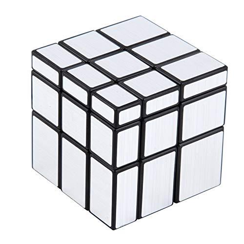 3x3x3 kompakte und tragbare Spiegelblöcke Silber glänzend Zauberwürfel Puzzle Denkaufgabe IQ Kid Funny Worldwide Tolles Geschenk