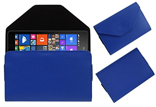 Acm Premium Pouch Case For Nokia Lumia 535 Flip Flap Cover Holder Blue  available at amazon for Rs.359