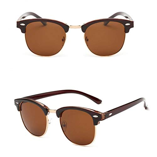 Taiyangcheng Half Metal Polarized Sonnenbrillen Männer Frauen Spiegel Sonnenbrillen Mode,braun braun