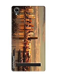Omnam Full City Paranomic View Printed Designer Back Cover Case For Intex Aqua Power Plus