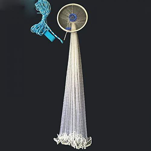 BYDRDYW Finefish Monofilament Schnur Cast Net Easy Throw Fischernetz mit Ring Outdoor Catch Fish Schleppnetz Small Mesh Fly Nets