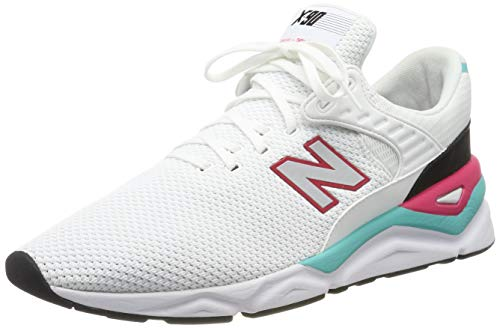New Balance Herren X-90 Sneaker, Weiß (White/Pomegranate CRA), 41.5 EU