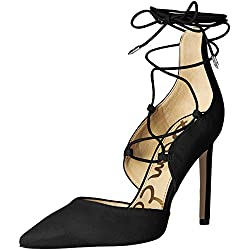 Sam Edelman Damen Helaine Pumps, Gold (Black Kid Suede), 40 EU