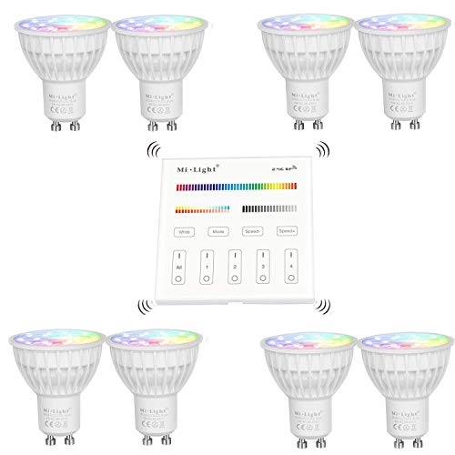 Mi.light LED Spotlight 4w RGB-CCT Colour Changing Warmes Weiß Wall Panel Control Steuerelement lights 16 Zone Control Panel
