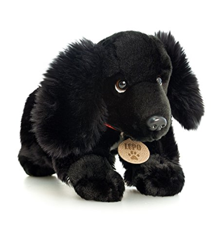 LUPO The Black Cocker Spaniel Dog Soft Plush Toys 35cm By Toyland