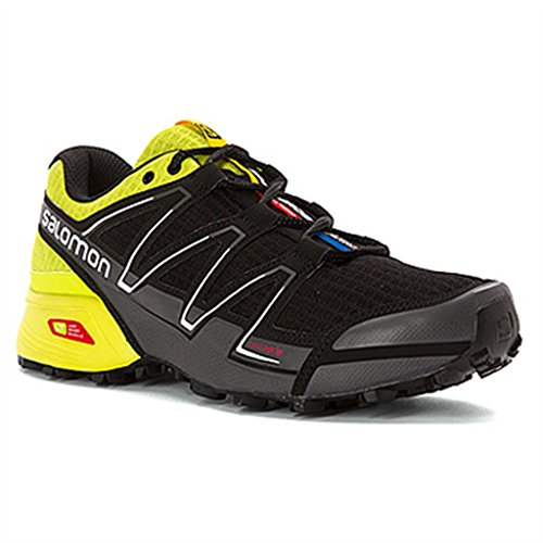 Salomon Speedcross Vario, Scarpe sportive, Uomo Black/Gecko Green/Dark Cloud