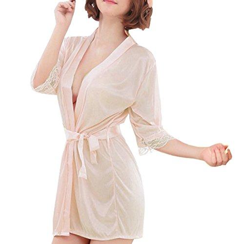 Sidiou Group Vestido Pijama Mujer Kimono Corto Bata