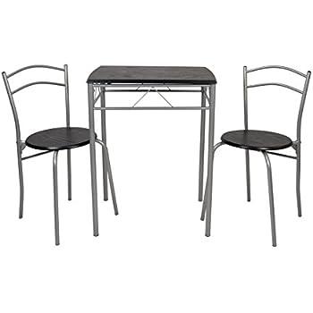 ts-ideen 3er Set Essgruppe Esstisch Küchen-Tisch aus Alugestell + ...