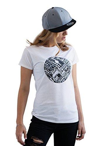 Strand Clothing Damen T-Shirt Weiß Weiß Gr. L, Weiß - Weiß - Records-t-shirt Hospital