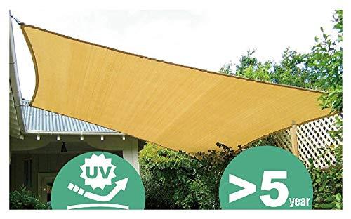 Filet d'ombrage, auvents, Filet Solaire, écran de Protection Solaire, voiles de bâche de Tente de Tente pour auvent, appropriées à la Protection Anti-UV, grandeurs Multiples, Beige (Taille : A-3x3m)