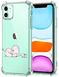 Suhctup Funda Transparent Compatible para iPhone 12 Pro,Carcasa Protectora [Antigolpes] Suave Silicona TPU Bumper Cojín de Aire de Cuatro Esquinas Protector Gel para iPhone 12 Pro,A2
