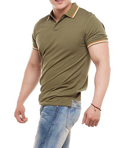 worboo Herren Poloshirt armee-grün