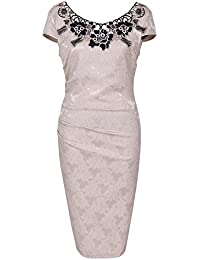 Hibote Dresses Women Sexy Lace Dresses Nice Knee Length Dress Elegant Short Sleeve Party Evening Ball Gowns Office Work Dresses