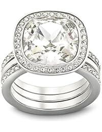 Swarovski Damen-Ring Metall Swarovski-Kristall weiß Gr.56 (17.8) 1144266
