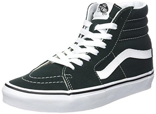 Vans Sk8-hi Suede/Canvas, Sneaker Unisex-Adulto, Verde (Scarab/True White), 46 EU