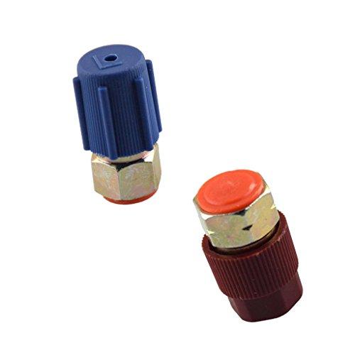 Quick-seal-adapter (sharplace 3/20,3cm High 7/40,6cm Low R12AUF R134A Messing Heavy Duty Tank Vakuum Pumpe Adapter)