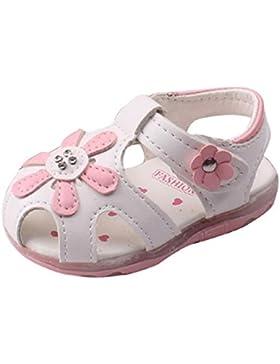 Babyschuhe,Amlaiworld Kleinkind neue Sonnenblumen Mädchen Sandalen beleuchtet Prinzessin Schuhe mit weichen Sohlen