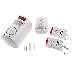 Sterling Ea501 Pir Motion Sensor Alarm With 2 Remotes - White