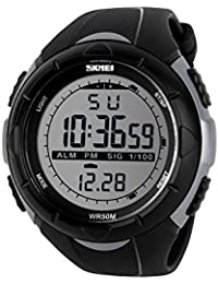 Naivo Men's Swiss Automatic Stainless Steel and Rubber Watch, Color:Black (Model: NAIVO-WATCH-1165)