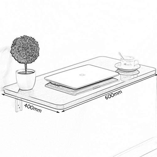 MTX Ltd Kleine Wohnung Klavierlack Weiß Faltbar Passt zu jedem Raum Computertisch Desktop Laptop Schreibtisch Trennwand Regal Wandhalterung Wandtisch mit verstärkter Faltbarer Halterung,60 * 40 cm