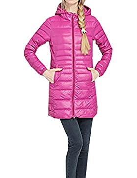 BLACKMYTH Invierno Mujer Cálido Abajo Abrigo Extra Outwear Ligero Largo Chaqueta Parka