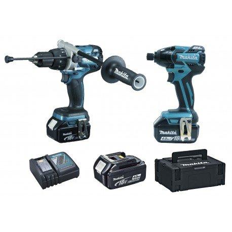 Preisvergleich Produktbild Makita Pack Makita dlx2040spc Bohrmaschine/Akkuschrauber dhp481DTD129Schlagschrauber PIW 18V 3x 4.0Ah