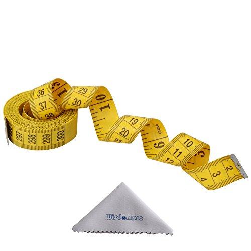 Wisdompro, metro da sarto morbido, misurazione corpo 120 Inch, Yellow