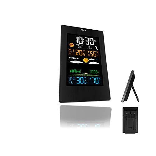 LICHUXIN Wetterstation Projektion Projektionsuhr Produkt ist schwer 260g Sensor displaymoon Größen 185 * 187 * 30 mm Anzeige und Alarmzyklus Spiegeltakt Touch kann mit 3 Sensorenwerden