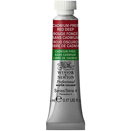 Winsor & Newton Professionelle Wasserfarbe 5ml tube Cadmium-free Red Deep - Red 5 Ml-tube