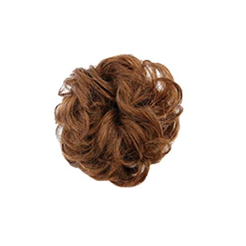 BfmyxgsEchthaar Perücke Haare tragen Haarring Haarschmuck Flauschige natürliche Mode Kurzes Haar Echthaar Material (Hair Extensions Purple Light)