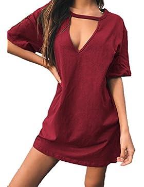 Hqclothingbox -  Vestito  - Camicia - Maniche corte  - Donna