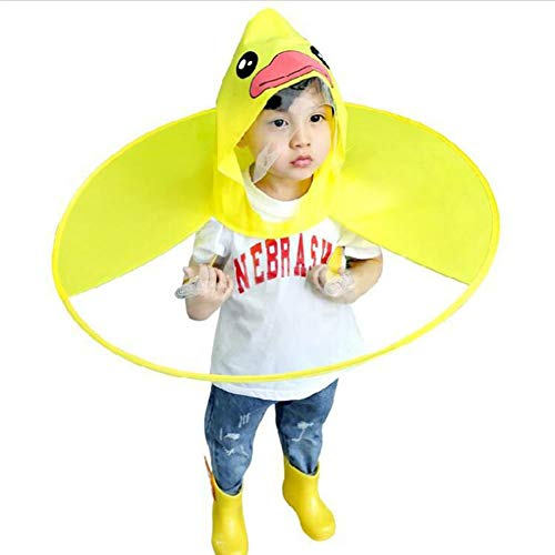 Phayee Regenmantel Nette gelbe Ente Kinder Poncho transparent Kinder regenmäntel Falten Regen Abdeckung kreative Regen Mantel -